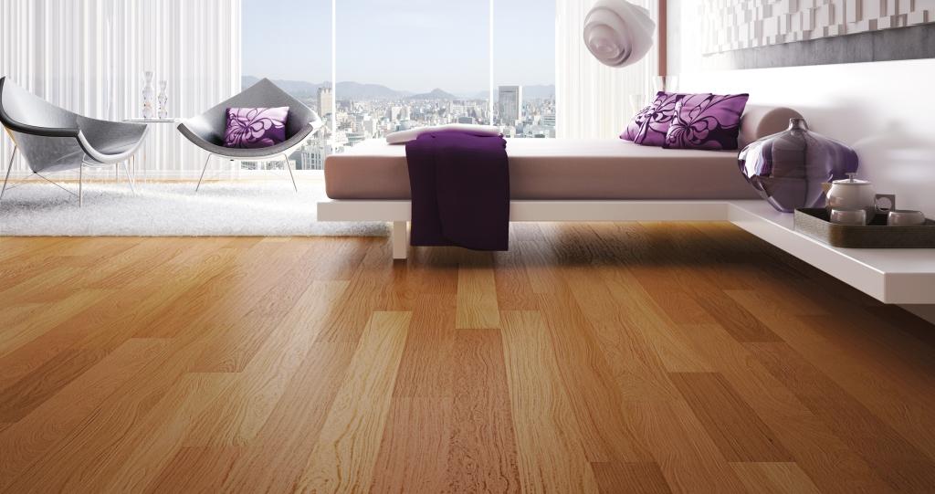 La tarima flotante y el uso moderado de la madera